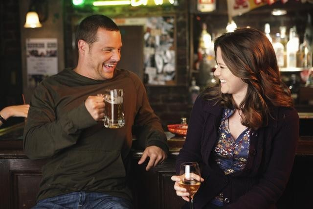 Justin Chambers and Sarah Drew in Grey's Anatomy (2005)