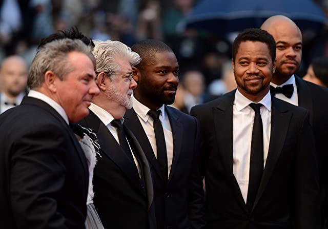 George Lucas, Cuba Gooding Jr., and David Oyelowo at an event for Cosmopolis (2012)
