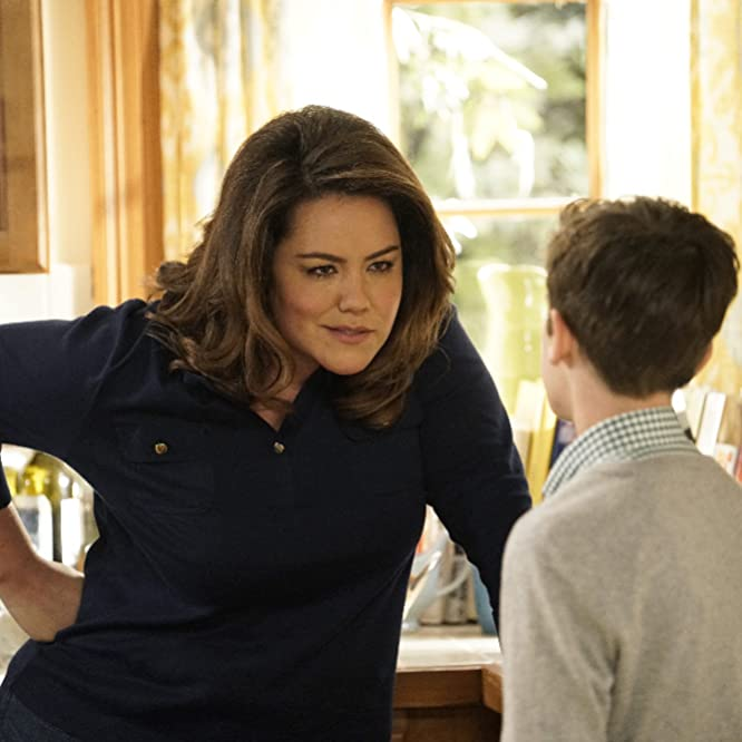 Katy Mixon and Daniel DiMaggio in American Housewife (2016)
