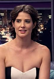 Cobie Smulders Wears a Black & White Strapless Dress Poster