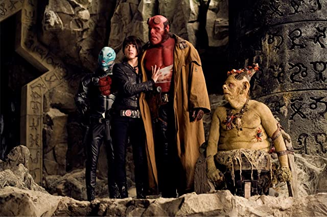Ron Perlman, Selma Blair, and Doug Jones in Hellboy II: The Golden Army (2008)