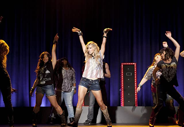 Lea Michele, Jenna Ushkowitz, Amber Riley, and Heather Morris in Glee (2009)