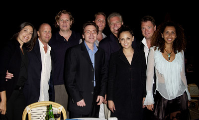 Rachael Leigh Cook, Al Corley, Gavin Grazer, Eugene Musso, Bart Rosenblatt, and Marcus Thomas at Scorched (2003)