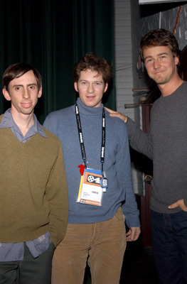Edward Norton, David Sampliner, and Tim Nackashi at Dirty Work (2004)