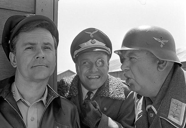 John Banner, Bob Crane, and Werner Klemperer in Hogan's Heroes (1965)