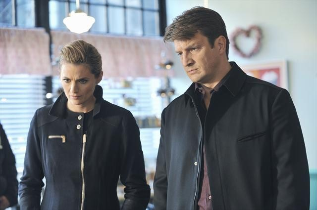 Nathan Fillion and Stana Katic in Castle (2009)