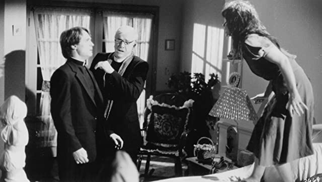 Linda Blair, Leslie Nielsen, and Anthony Starke in Repossessed (1990)