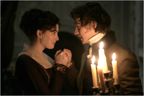 Anne Hathaway and James McAvoy in Becoming Jane (2007)