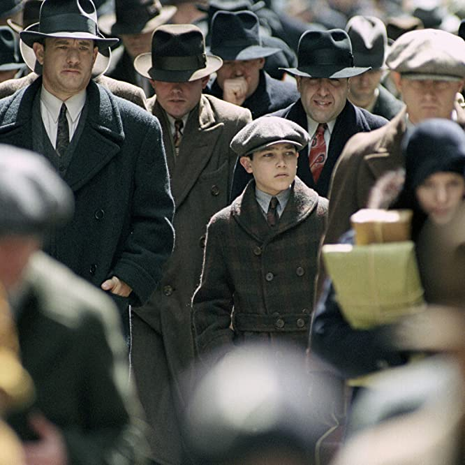 Tom Hanks and Tyler Hoechlin in Road to Perdition (2002)