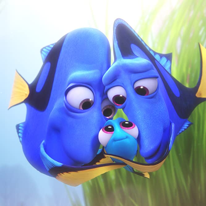 Diane Keaton, Eugene Levy, and Sloane Murray in Finding Dory (2016)