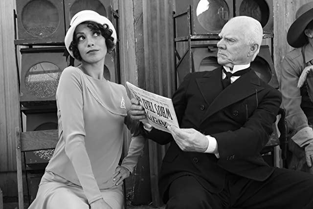 Malcolm McDowell and Bérénice Bejo in The Artist (2011)