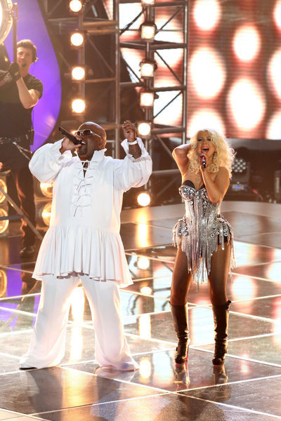 Christina Aguilera and CeeLo Green in The Voice (2011)