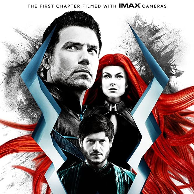 Anson Mount, Serinda Swan, and Iwan Rheon in Inhumans (2017)