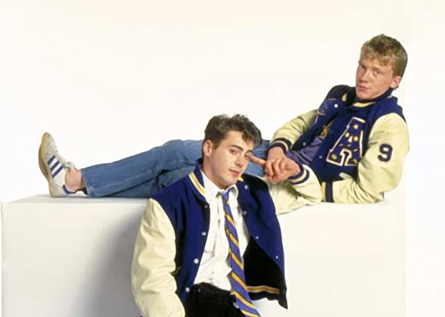 Robert Downey Jr. and Anthony Michael Hall in Johnny Be Good (1988)