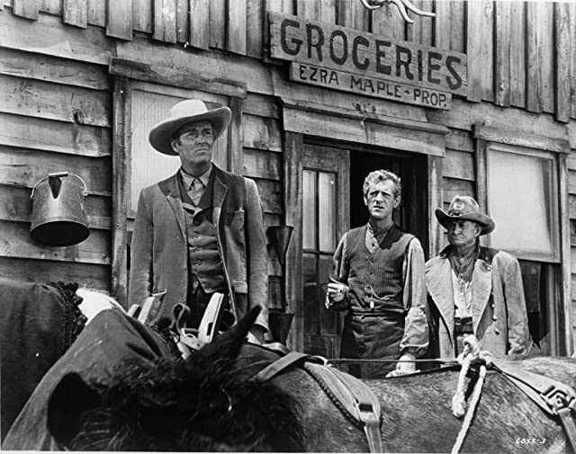 Henry Fonda, John Anderson, and Paul Fix in Welcome to Hard Times (1967)