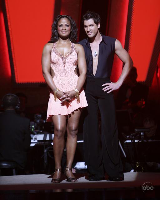Laila Ali and Maksim Chmerkovskiy in Dancing with the Stars (2005)
