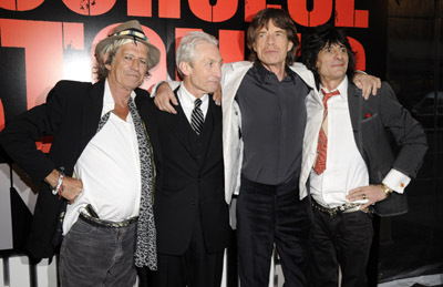 Mick Jagger and Ronnie Wood at Shine a Light (2008)