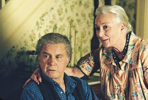 CLIFF ROBERTSON and ROSEMARY HARRIS star as Uncle Ben and Aunt May in Columbia Pictures' action adventure SPIDER-MAN.