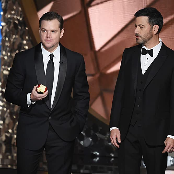 Matt Damon and Jimmy Kimmel at an event for The 68th Primetime Emmy Awards (2016)