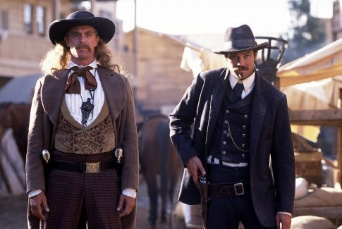 Keith Carradine and Timothy Olyphant in Deadwood (2004)