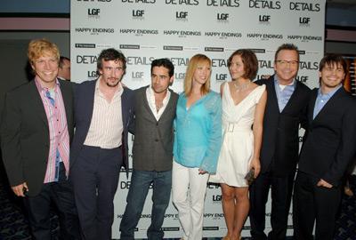 Tom Arnold, Lisa Kudrow, Jesse Bradford, Steve Coogan, Maggie Gyllenhaal, Jason Ritter, and Don Roos at Happy Endings (2005)