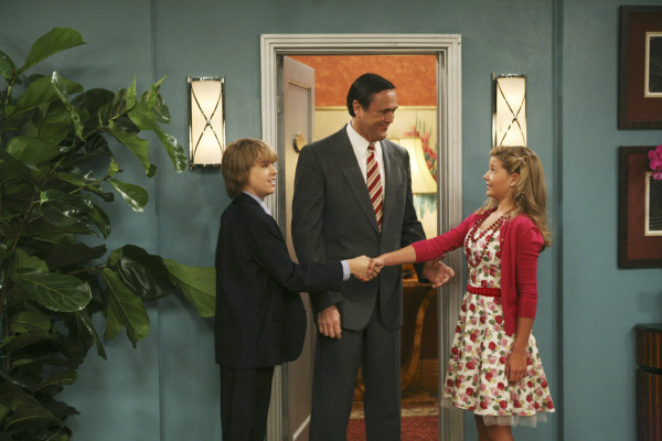 Hamilton Mitchell, Cole Sprouse, and Gilland Jones in The Suite Life on Deck (2008)