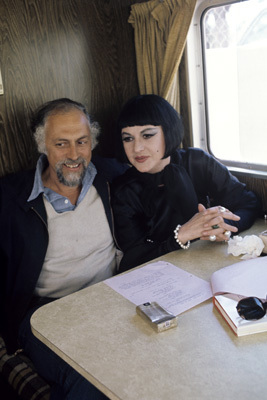 Bea Arthur in her trailer doing the movie