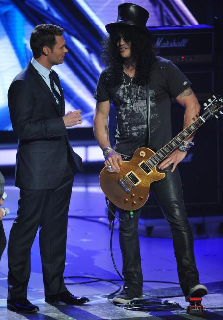 Ryan Seacrest and Slash in American Idol (2002)