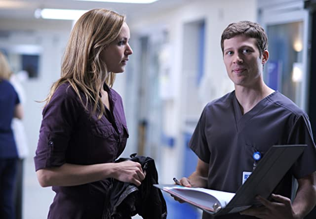 Jordana Spiro and Zach Gilford in The Mob Doctor (2012)