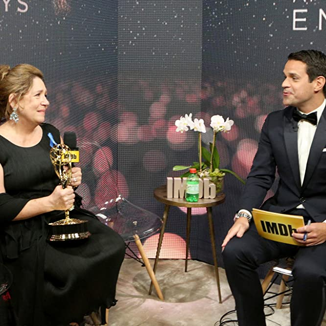 Ann Dowd and Dave Karger at an event for IMDb at the Emmys: IMDb LIVE After the Emmys 2017 (2017)