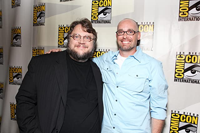 Guillermo del Toro and Troy Nixey at Don't Be Afraid of the Dark (2010)