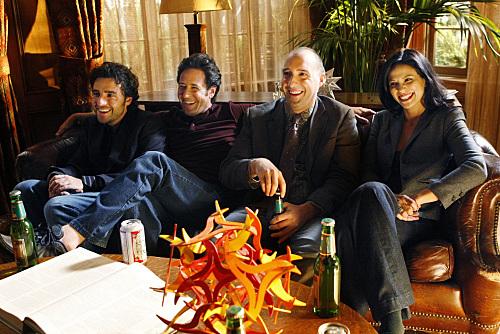 Rob Morrow, Tony Hale, David Krumholtz, and Navi Rawat in Numb3rs (2005)