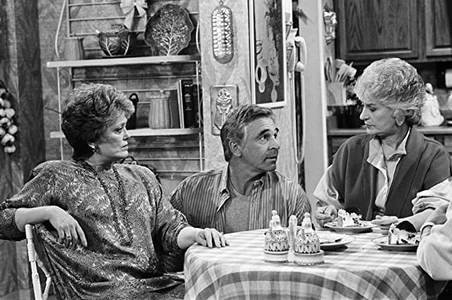 Rue McClanahan, Bea Arthur, and Donnelly Rhodes in The Golden Girls (1985)