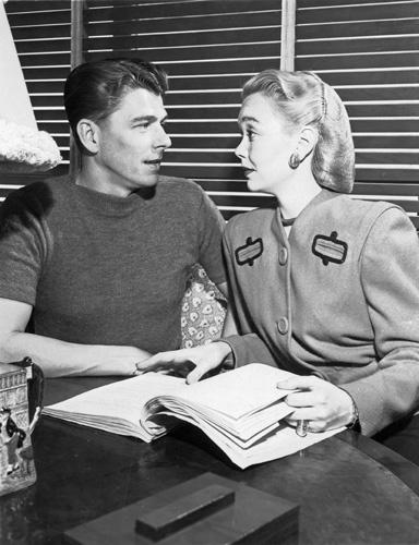 Ronald Reagan and Jane Wyman circa 1940s