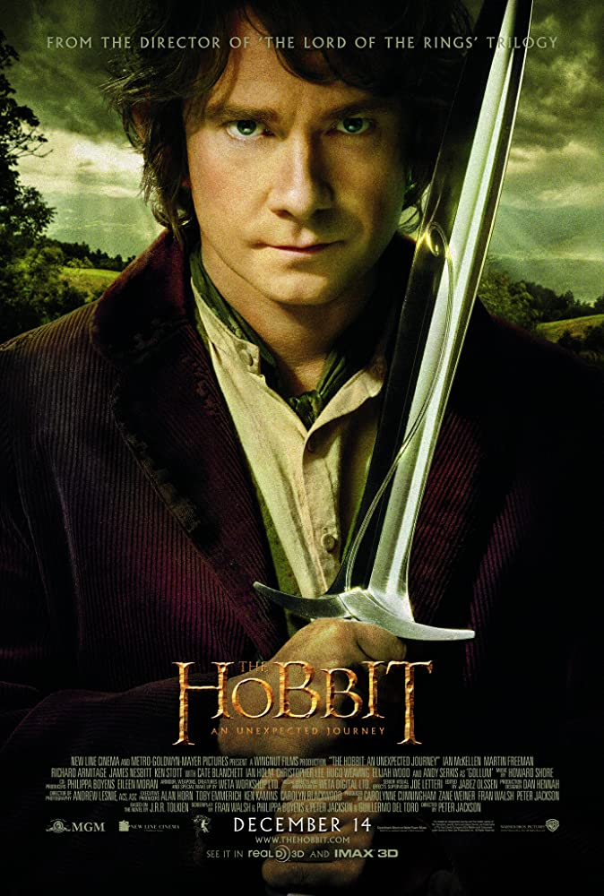 The Hobbit: An Unexpected Journey (2012), The Hobbit: The Desolation of Smaug (2013) & The Hobbit: The Battle of the Five Armies (2014)  MV5BMTcwNTE4MTUxMl5BMl5BanBnXkFtZTcwMDIyODM4OA@@._V1_SY1000_CR0,0,674,1000_AL_