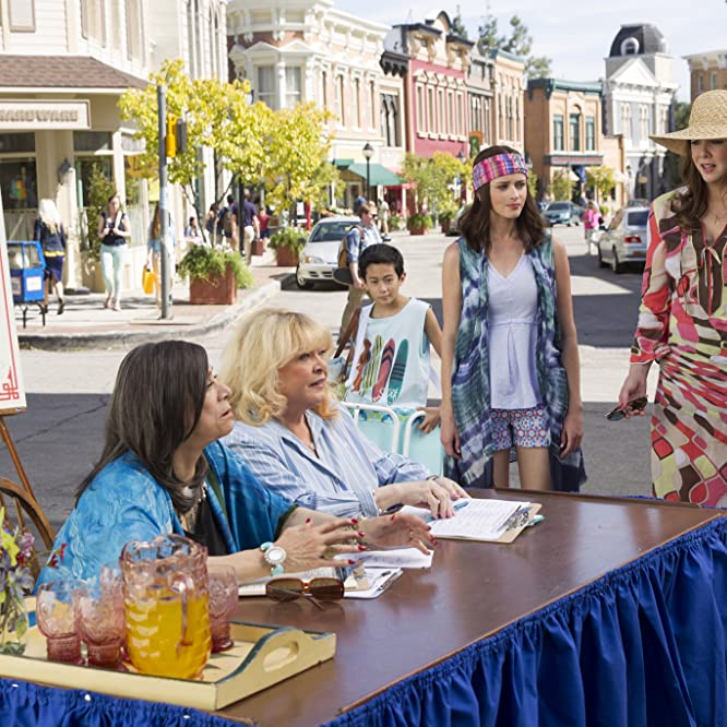 Sally Struthers, Liz Torres, Alexis Bledel, and Lauren Graham in Gilmore Girls: A Year in the Life (2016)