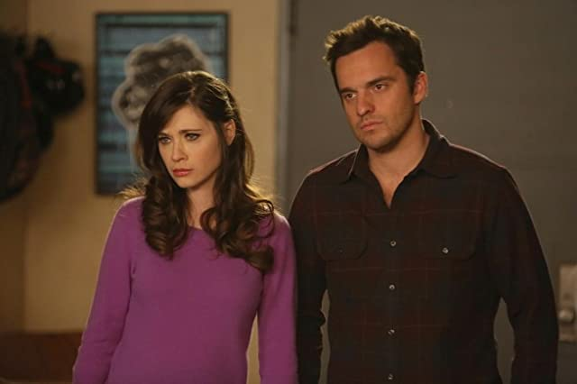 Zooey Deschanel and Jake Johnson in New Girl (2011)