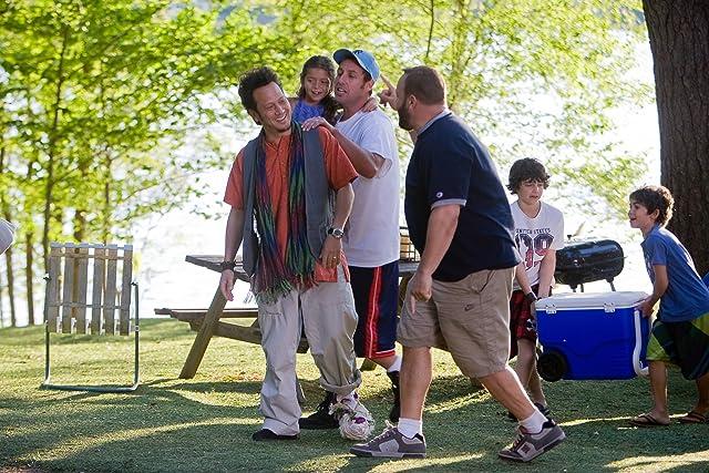 Adam Sandler, Rob Schneider, Kevin James, Jake Goldberg, and Cameron Boyce in Grown Ups (2010)