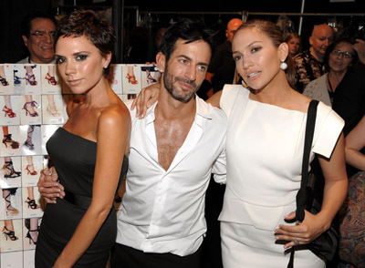 Jennifer Lopez, Victoria Beckham, and Marc Jacobs
