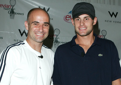 Andre Agassi and Andy Roddick