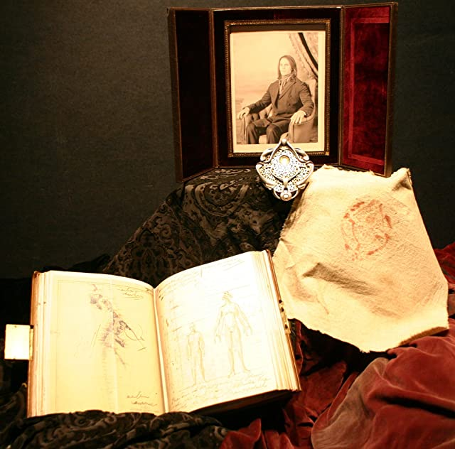 Book, portrait and medallion from John Carter, on display at the El Capitan Theatre in Hollywood