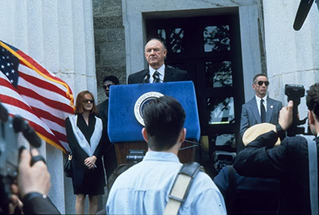 Gene Hackman and Judy Davis in Absolute Power (1997)