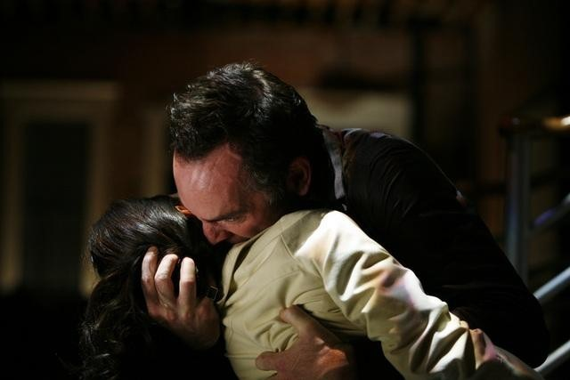 Paul Blackthorne and Rhona Mitra in The Gates (2010)
