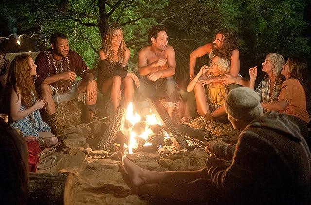 Jennifer Aniston, Malin Akerman, Lauren Ambrose, Paul Rudd, Justin Theroux, Kathryn Hahn, and Jordan Peele in Wanderlust (2012)
