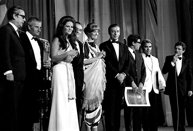Vanessa Redgrave, Lindsay Anderson, Claudia Cardinale, Yves Montand, and Luchino Visconti