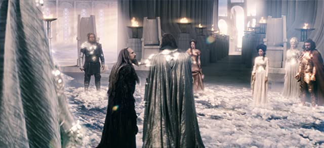 Ralph Fiennes, Liam Neeson, Jane March, Charlotte Comer, Paul Kynman, Tamer Hassan, and Nathalie Cox in Clash of the Titans (2010)