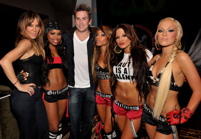 Mark McGrath, Robin Antin, and Chrystina Sayers at Pussycat Dolls Present: Girlicious (2008)
