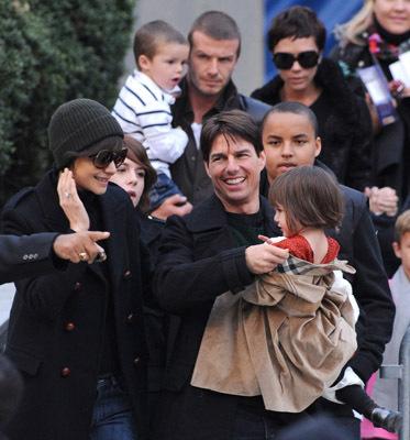 Tom Cruise, Katie Holmes, David Beckham, Victoria Beckham, Cruz Beckham, Suri Cruise, and Connor Cruise