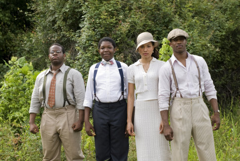Jurnee Smollett-Bell, Jermaine Williams, Denzel Whitaker, and Nate Parker in The Great Debaters (2007)