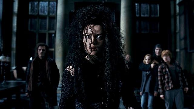 Helena Bonham Carter, Rupert Grint, Nick Moran, and Emma Watson in Harry Potter and the Deathly Hallows: Part 1 (2010)